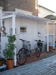 自転車の 自転車小屋 diy : DIY 自転車小屋 完結編! : cafe24 ...