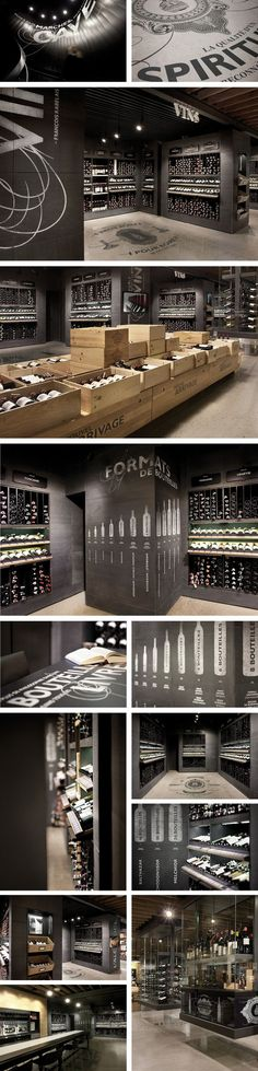 wine / SAQ Signature by Isabelle D'Astous. Miles and miles of wine packaging. Where is this place I love it : ) PD