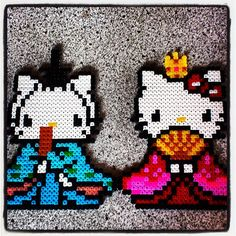 Japanese Hinamatsuri Hello Kitty perler beads by Young Xena