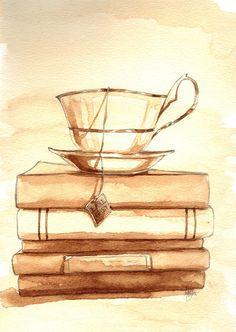 painting of coffee, painted using coffee. whoa, painted using coffee, how awesome is that?