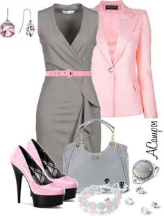 Grey and pink outfit