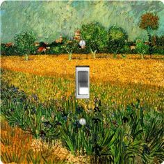 "Rikki KnightTM Van Gogh Art View Arles Irises Foreground - Single Toggle Light Switch Cover by Rikki Knight. $13.99. For use on Walls (screws not included). Glossy Finish. 5""x 5""x 0.18"". Masonite Hardboard Material. Washable. The Van Gogh Art View Arles Irises Foreground single toggle light switch cover is made of commercial vibrant quality masonite Hardboard that is cut into 5"" Square with 1'8"" thick material. The Beautiful Art Photo Reproduction is printed directl..."