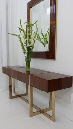Seductive and timeless. This wood entrance table is romantic and gives personality to any home décor | Discover more: http://modernconsoletables.net