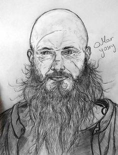 Rganar Lothbrock   vikings series Artwork drawing pencil sketch