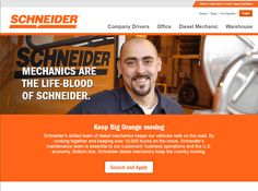 Schneider's skilled team of diesel mechanics keeps our vehicles safe on the road. Learn more about Schneider's diesel mechanic job opportunities. Mechanic Jobs, Diesel, About Me Blog, Knowledge, Trucks, Fresh, Website, Learning, Check