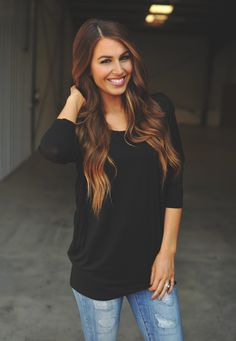 Dottie Couture Boutique - Solid Tunic- Black , $34.00 (http://www.dottiecouture.com/solid-tunic-black/)