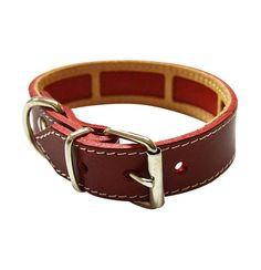 Collar Antiparasitario para perro Piel Vaquetilla Rojo