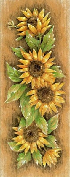 sunflower tattoos i have seen almost makes me want to go get a tattoo … Sonnenblumen-Tattoos, die ich gesehen habe,. Tole Painting, Fabric Painting, Painting On Wood, Sunflower Art, Sunflower Tattoos, Art Floral, Decoupage, Painting Inspiration, Beautiful Flowers