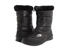 The North Face Nuptse Bootie Fur IV Demitasse Brown (Mini Houndstooth)/Moonlight Ivory - Zappos.com Free Shipping BOTH Ways
