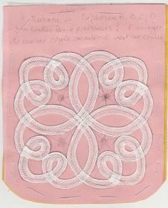 Similar to Battenberg lace. Romanian Point Lace Crochet uses a crocheted tape, this uses a machine woven tape Freeform Crochet, Knit Or Crochet, Irish Crochet, Bobbin Lace Patterns, Embroidery Patterns, Craft Patterns, Sewing Patterns, Romanian Lace, Crochet Collar