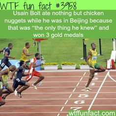 Usain Bolt's diet during the Olympics - WTF fun facts