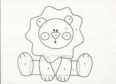 Resultado de imagem para molde de leão sentado em feltro