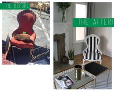 the flip: before/after flea market chair.