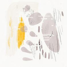 Remnants - acrylic, graphite, cut paper, digital.  By Keith Negley  notes: negative space