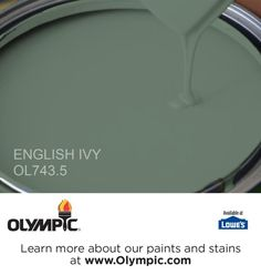 ENGLISH IVY OL743.5 is a part of the greens collection by Olympic® Paint.