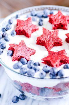 Red Velvet, White, and Blueberry Cheesecake Trifle http://www.somethingswanky.com/red-velvet-trifle-in-jar/?utm_campaign=coschedule&utm_source=pinterest&utm_medium=Something%20Swanky&utm_content=Red%20Velvet%2C%20White%2C%20and%20Blueberry%20Cheesecake%20Trifle