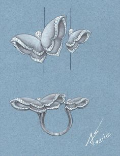 My work.my love. #azilaz #ring #butterfly #handdrawing #handsketch #jewelry #designer #designerjewelry