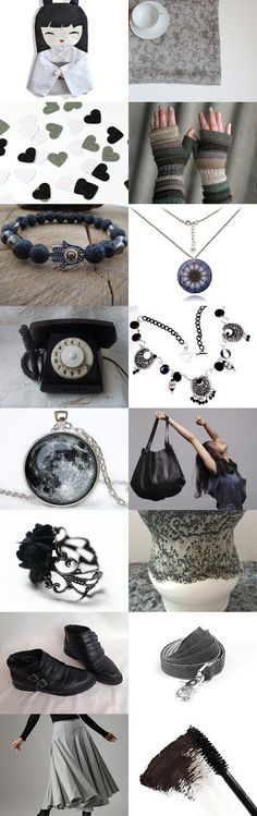 The World in Shades of Grey ~ Spring Gift Ideas 2015 ~ by Kathy Carroll on Etsy--Pinned with TreasuryPin.com