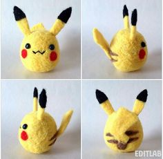 Pikachu needle felt by Tamashiohana on instagram #pokemon