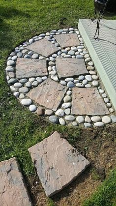 20 ways to decorate patio and garden floor with patterns - HomeDesignI . 20 ways to decorate patio and garden floor with patterns - HomeDesignInspired # decorate floor Garden Yard Ideas, Garden Paths, Garden Projects, Patio Ideas, Creative Garden Ideas, Garden Art, Patio Decorating Ideas, Garden Decorations, Pergola Ideas