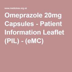 Omeprazole 20mg Capsules - Patient Information Leaflet (PIL) - (eMC)
