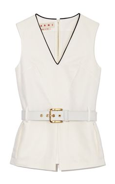 Shop White Sleeveless Top by Marni - Moda Operandi