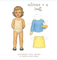 Oliver + S - Sailboat Top Skirt & Pants Pattern 6M-3T