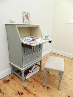 Lovely French Shabby Chic Bureau, Writing desk ref. Laura Ashley, Annie Sloan | eBay