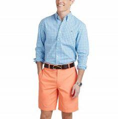 Vineyard Vines Men's Slim Fit Whale Shirt - Bayberry Check