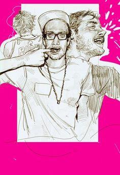 Color in Drawing. by gwaja ji, via Behance