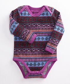 Girls' Zimzala Long Sleeve Snapster Bodysuit