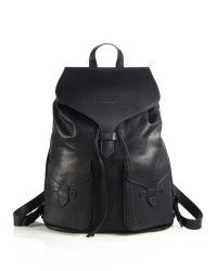 ab1070a24679 Emporio Armani - Black Toro Leather Backpack for Men - Lyst