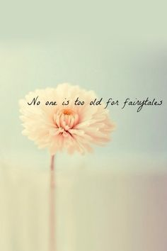 You're never too old for fairytales.