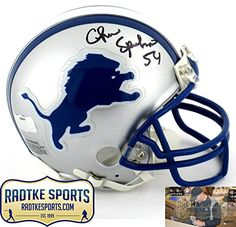 Chris Spielman AutographedSigned Detriot Lions Riddell NFL Mini Helmet --  Read more at the image d5460461f