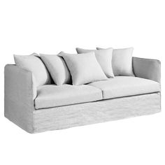Fauteuil neo chiquito toile lin froiss bultex am pm mobilier pinte - Canape convertible ampm ...