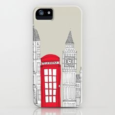 London - Red Telephone Box iPhone Case by BLUEBUTTON STUDIO - $35.00  <3 @Jennifer Popp
