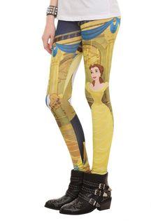 Amazon.com: Hot Topic Women's Disney Beauty & The Beast Leggings: Clothing