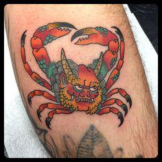 Thanks @ashhickmantattoo #crab #heichegani #japan #besttattooartist #bestjapan #marcodemoro @kingscrosstattoo  #follow by marcodemoro https://instagram.com/p/4gnBDUTIwr/