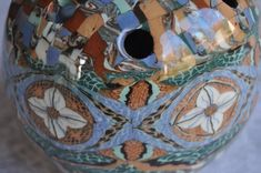 Vallauris Jean Gerbino, nerikomi/neriage flower vase