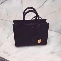 YSL Saint Laurent Sac De Jour Textured leather Tote Black #YSL #saintlaurent #luxury #designer #handbag #fashion
