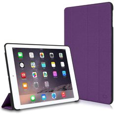 "CaseCrown: Omni Case for iPad Air 2 (Purple) 13"" Macbook Pro Folio Book Cover Case $5 & More  Free S&H"