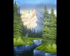 This work is INSPIRED by bob ross joy of painting Bob Ross Painting Videos, Bob Ross Paintings, Happy Paintings, Bob Ross Artworks, Robert Ross, The Joy Of Painting, Painting Workshop, Painting Lessons, Learn To Paint