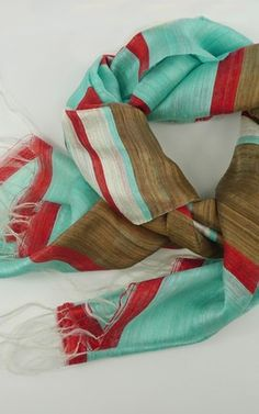Ok, so a little much for me but how fabulous are those colors together!?!?    Indian Summer Scarf by Indigo Handloom