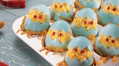 Chicken Little Stuffed Eggs from Pillsbury!  These adorable treats are not only visually appealing, they are delicious!
