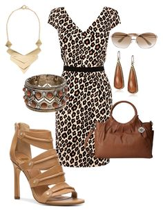 """""""Animal print dress #817"""" by highheelsandhotflashes ❤ liked on Polyvore featuring Oasis, Dolce Vita, Lucky Brand, Relic, MANGO, Jimmy Choo, women's clothing, women, female and woman"""