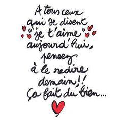 je t'aime! ~ citation français ~