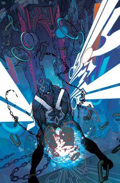 Black Bolt by Christian Ward Comic Book Artists, Comic Book Characters, Comic Artist, Marvel Characters, Comic Character, Comic Books Art, Marvel Dc Comics, Marvel Vs, Fun Comics