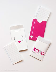 Mini Love Cards and Envelopes