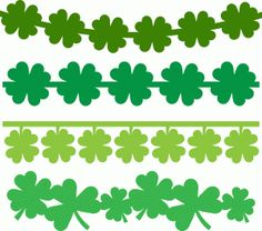 Silhouette Online Store - View Design #39783: 4 shamrock borders