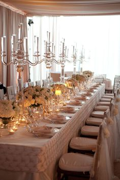 Vintage Inspired Ivory and Gold Wedding Head Table   Sterling Tyler Photography   Luxury Linens for any Wedding Budget!